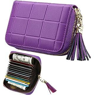33473c4bb4 iSuperb Porta Carte di Credito in Vera Pelle Credit Card Holder Blocco RFID Porta  Tessere 15