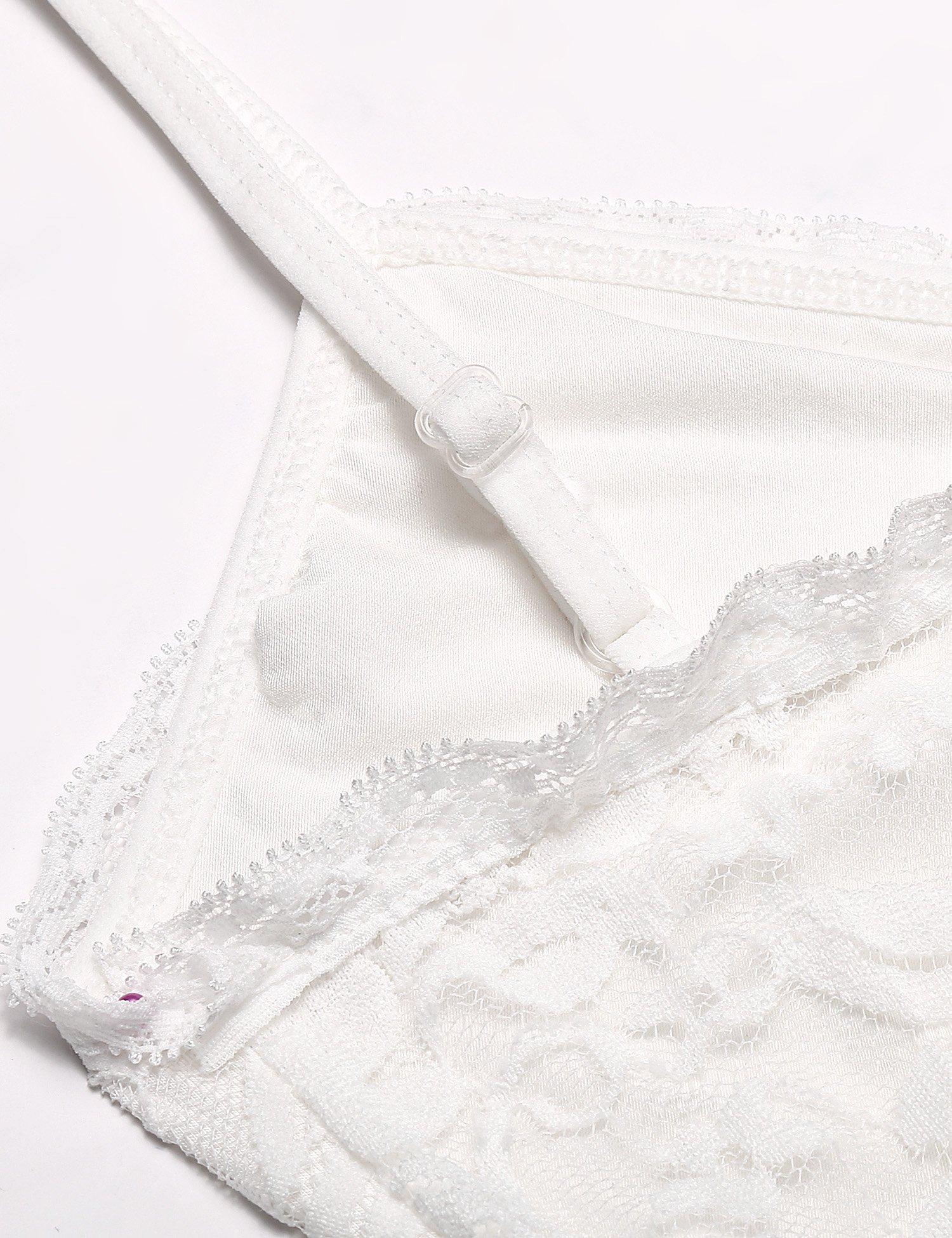 Ekouaer Womens Lace Camisole Nightgown Side Split Sleepwear,White(5560),XX-Large