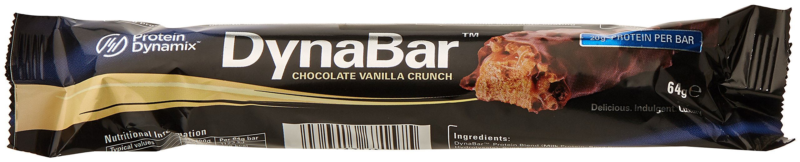 Protein Dynamix Dynabar Chocolate Vanilla Crunch Flavour High Protein Snack Bars, 12-Count product image