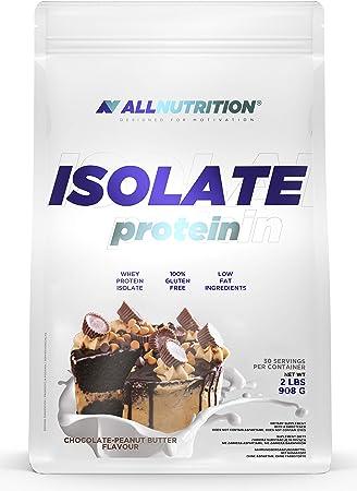 ALLNUTRITION aísla 908g paquete de 1 proteína de suero aislado proteína de suero proteína muscular en polvo (Chocolate Peanut Butter)