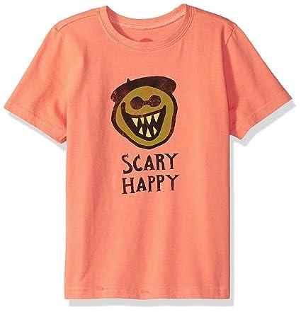 367c25dcfa0 Amazon.com  Life is Good Boys Crusher Tee Scary Happy  Sports   Outdoors