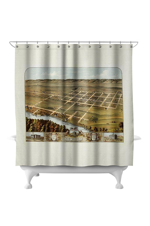 Amazon.com: New Ulm, Minnesota   Panoramic Map (71x74 Polyester Shower  Curtain): Home U0026 Kitchen