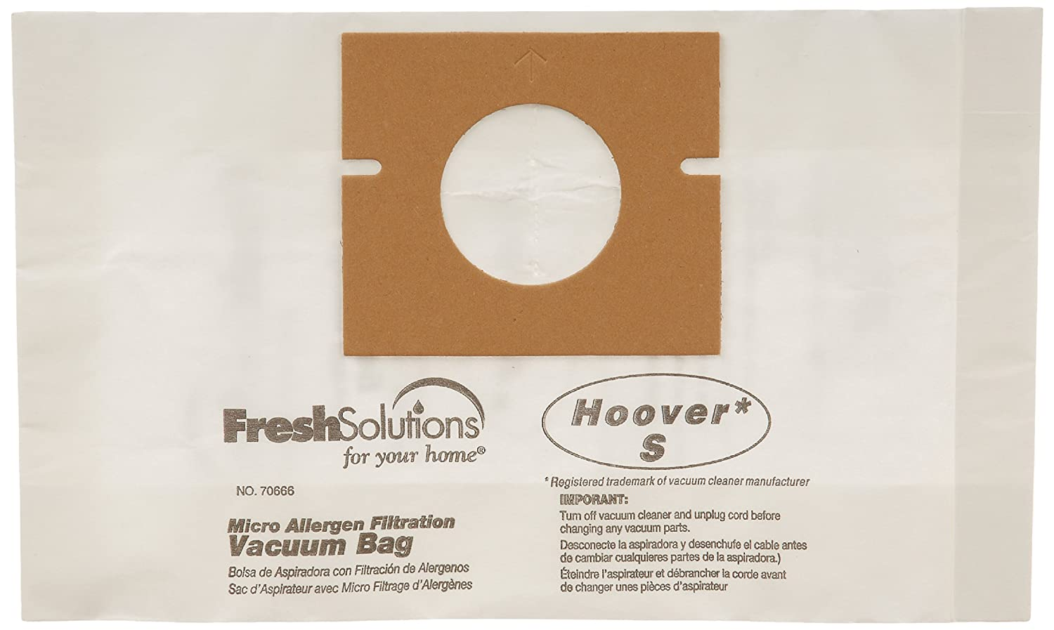 Amazon.com : Hoover 70666 Hoover S, Micro Filtration Vacuum Bags, Qty 3 : Household Vacuum Bags Upright : Garden & Outdoor