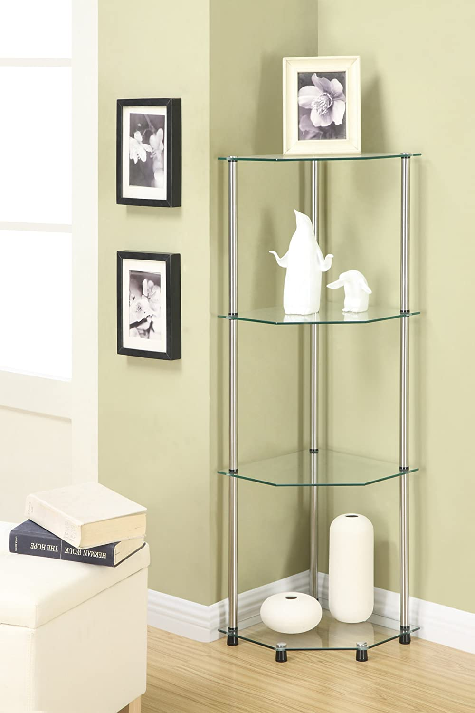 Amazon.com: Convenience Concepts Designs2Go Go-Accsense 4-Tier Glass ...
