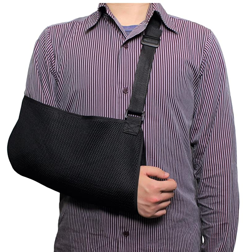 ブーム円周その[UY] アームホルダー 骨折 三角巾 腕 肩 腕つり サポーター 首の痛みを軽減 左右対応