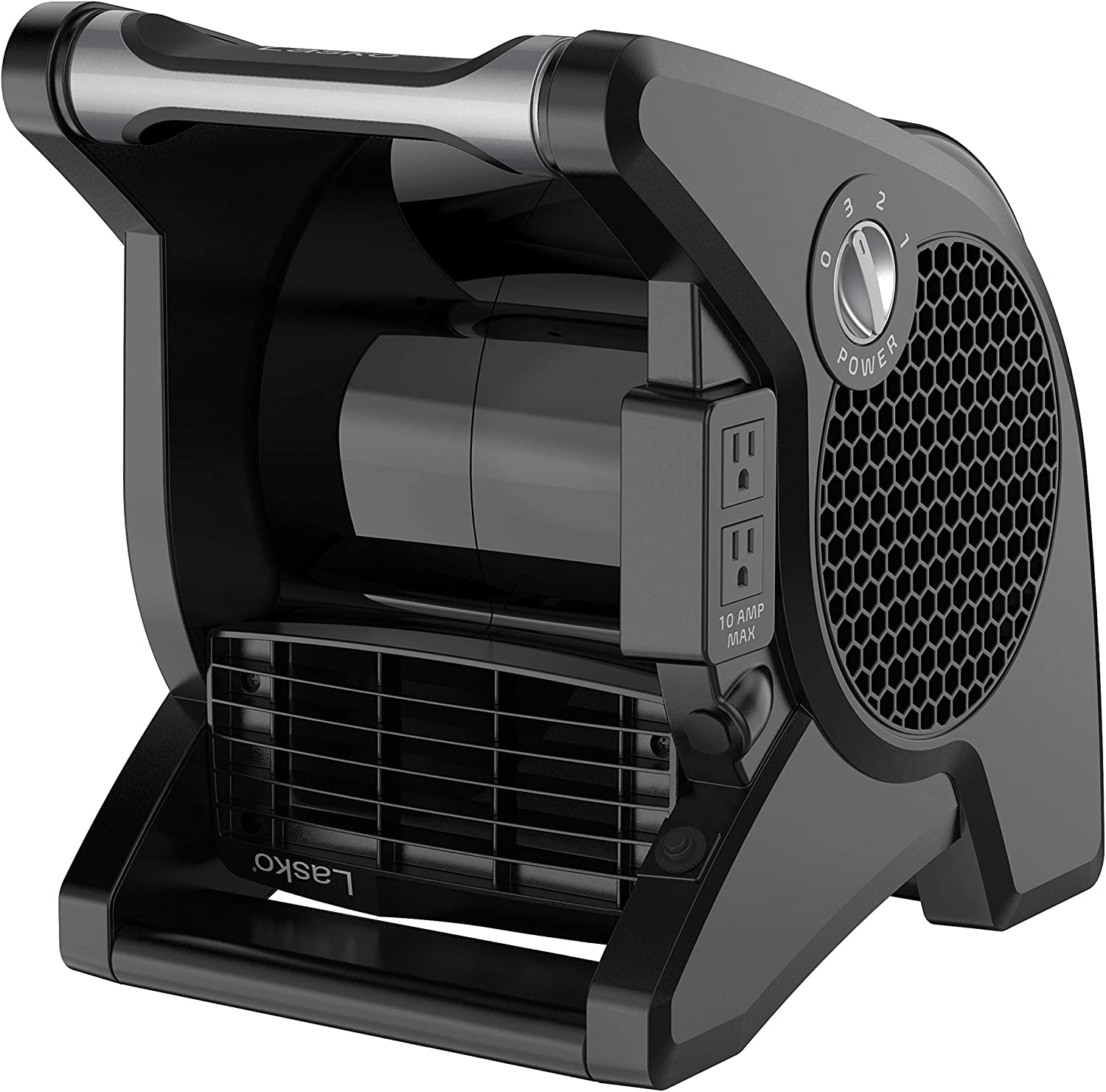 Lasko U12104 High Velocity Pro Pivoting Utility Fan for Cooling Ventilating Job Site and Work Shop Black 12104 Exhausting and Drying at Home