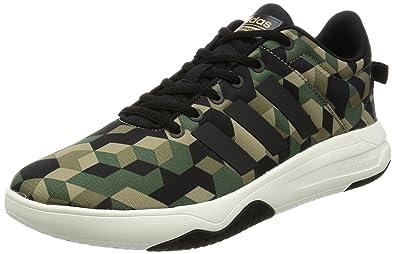 pretty nice 04d71 04cb3 Adidas Neo Men Army Running Shoes Cloudfoam Swish Khaki Camouflage AW4080  (EU 42 2