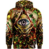 Illuminati All seing Eyes Masonic Freemason DMT Drug Trippy Hippie Psychedelic Full 3D Print Hoodie Sweaters