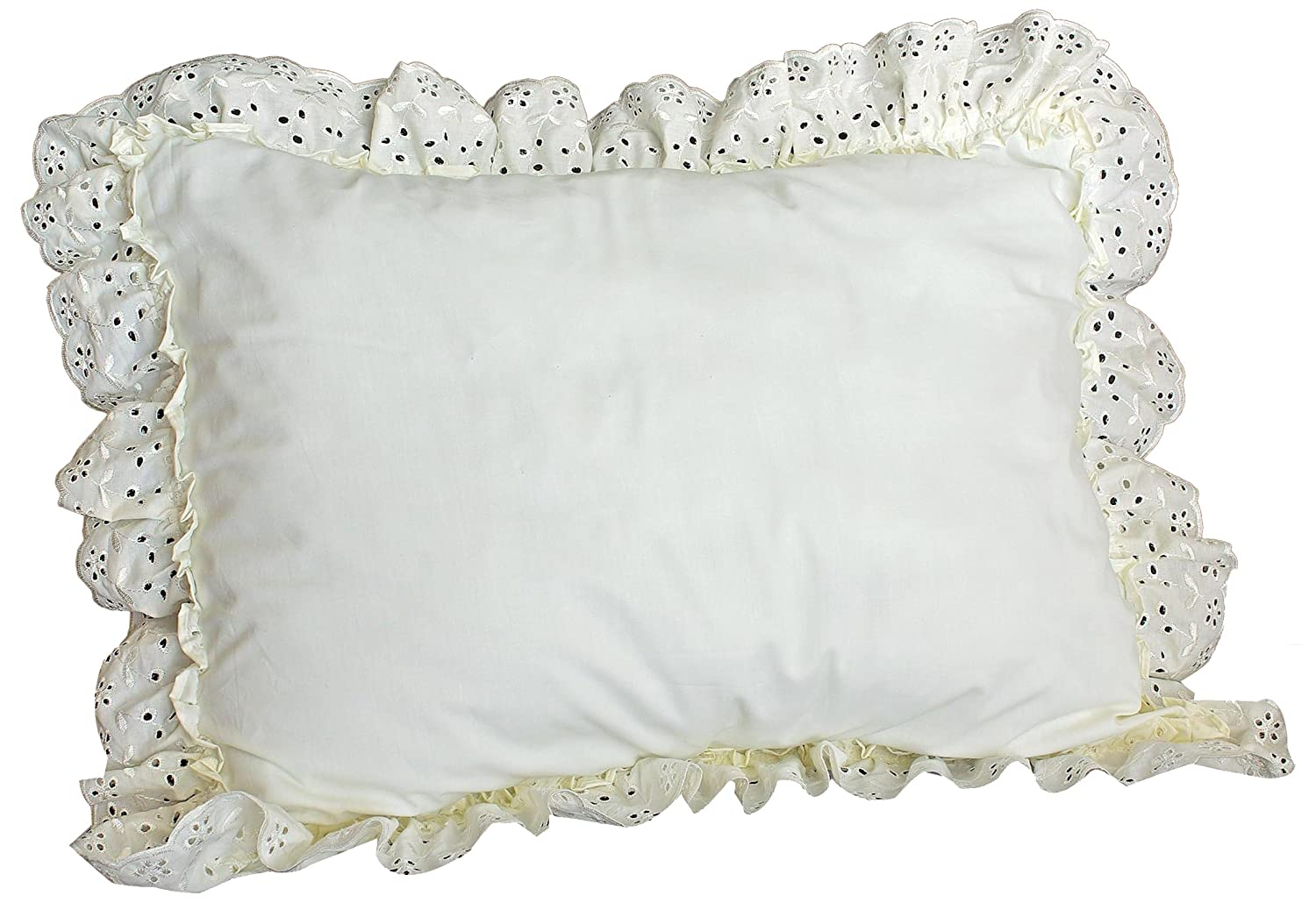 White American Curtain and Home Deanna 20-Inch by 26-Inch Pillow Sham Standard