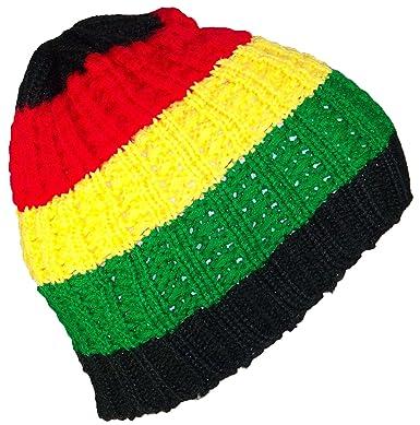 Best Winter Hats Kids Rasta Cuffless Beanie (One Size) - Red Yellow ... b112d2b2037