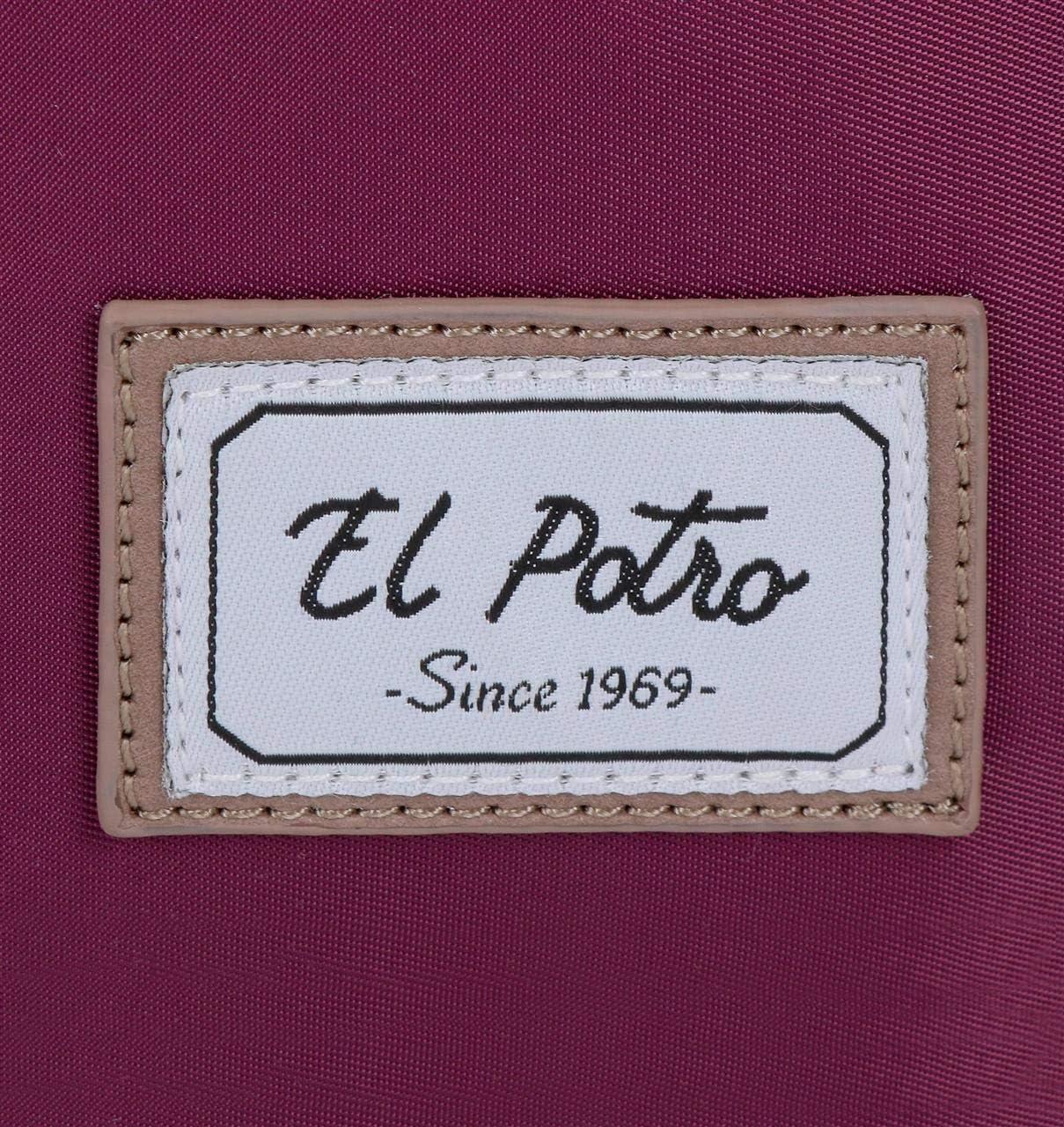 Lila El Potro Pipe Mochila Mujer para Port/átil 35 x 25 x 10 cm
