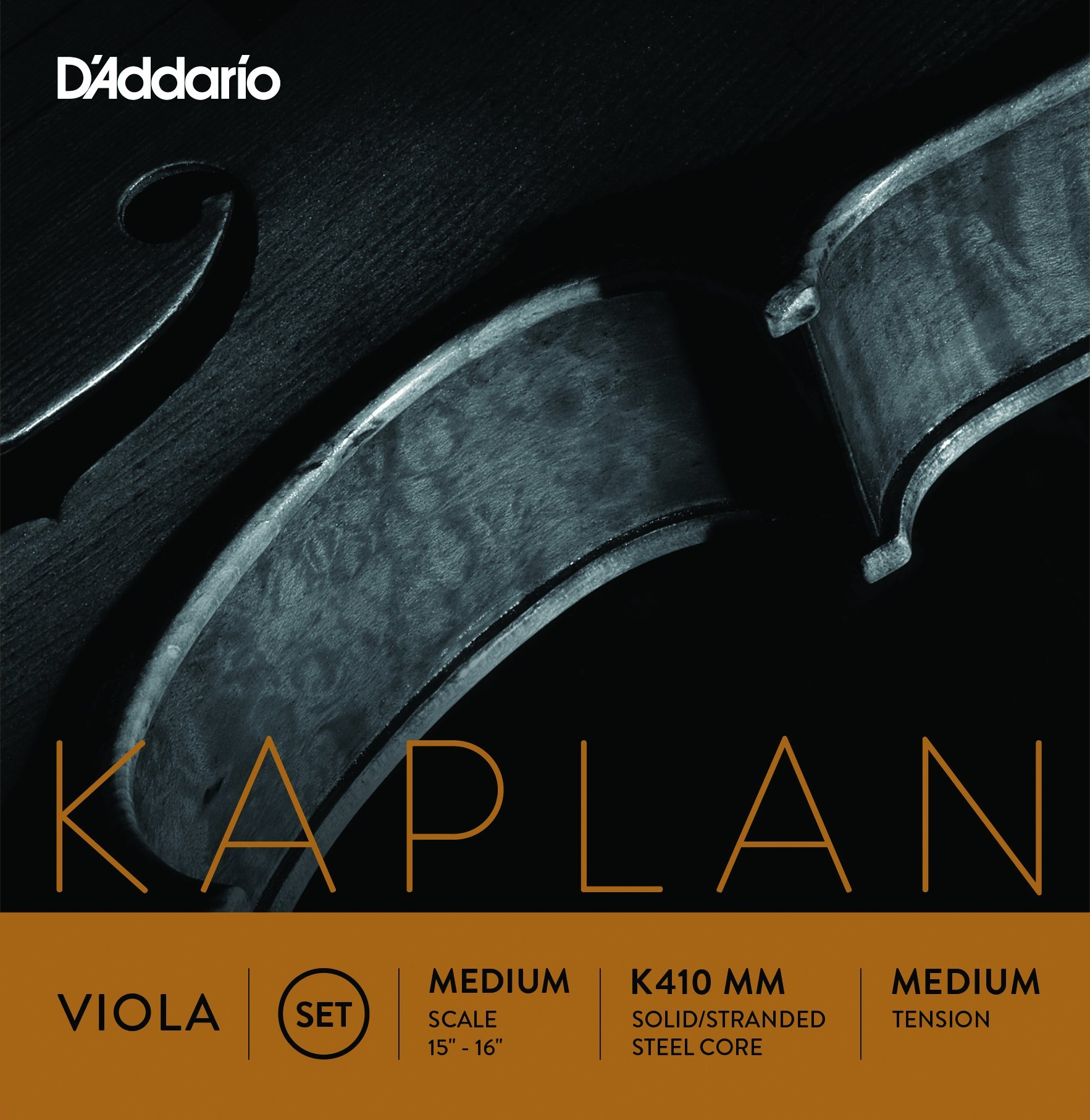 D'Addario Kaplan Viola String Set, Medium Scale, Medium Tension