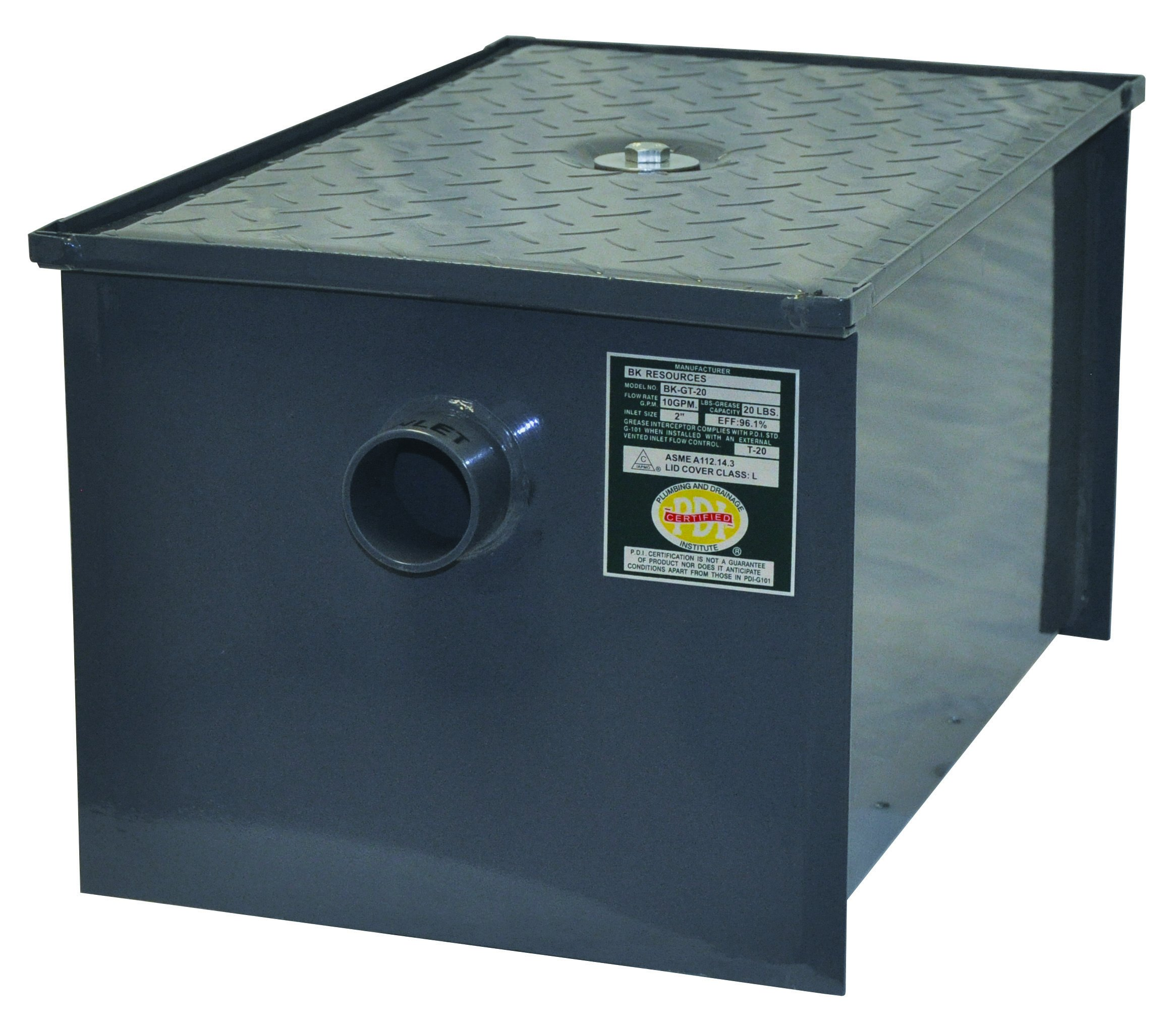 BK Resources 70 lb Grease Trap Interceptor