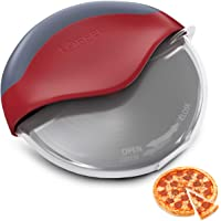 Premium Pizza Cutter with Wheel Slicer - Heavy Duty Food Grade Stainless Steel with Protective Plastic Blade Guard Cover