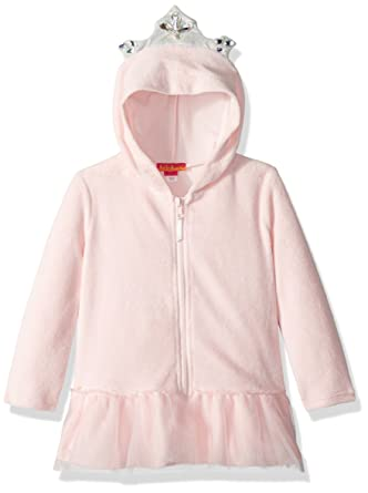 5f9a8a249b888 Amazon.com  Kate Mack Toddler Girls  Hooded Terry Coverup  Clothing