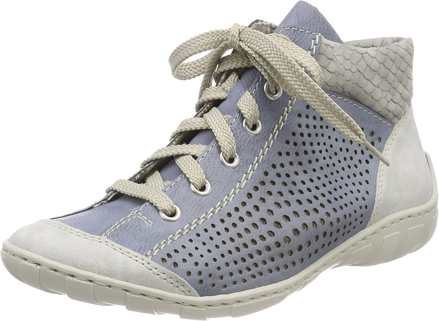 Rieker Damen M3746 High Top, Blau (FogAdriaCement), 37 EU bJG84