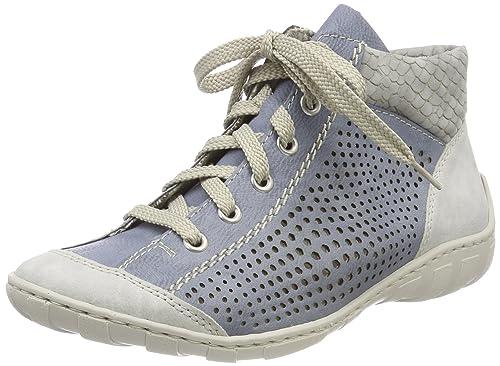 c6c1f7b7df7 Rieker Women Ankle Boots Blue, (Fog/Adria/Cement) M3746-40
