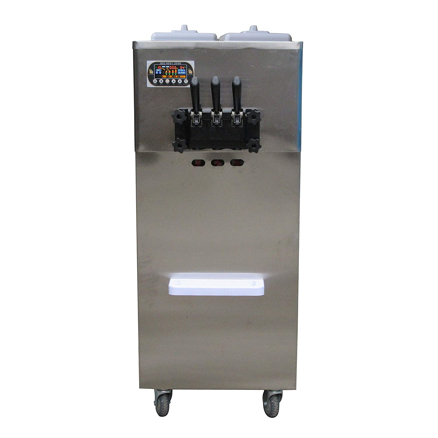 Kolice Ment Yogurt Soft Serve ice Cream Machine Taylor 2+1 Mixed Flavors Soft ice Cream Machine 210L Big Hopper, 22L Big Cylinder,Stainless Steel Beater,Gear Box,auto precooling,countering