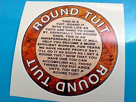 Round tuit vinyl sticker
