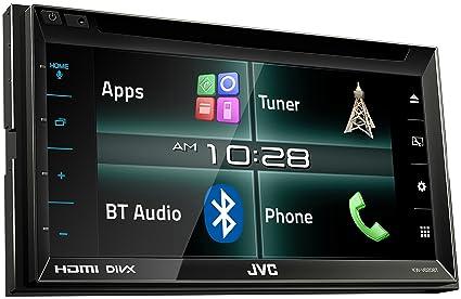 JVC KW-V620BT Negro 200W Bluetooth Receptor Multimedia para Coche - Radio para Coche (