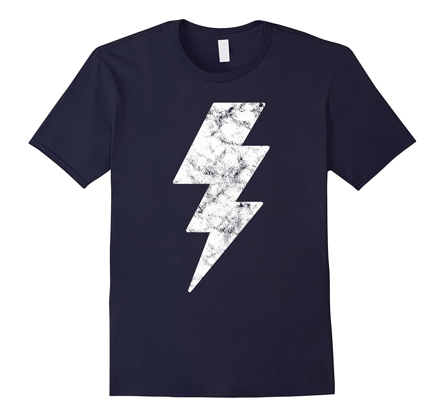Lightning Bolt Tshirt White Design Casual Printed Tees Tops-FL