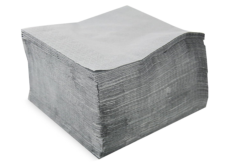 Saten Collection, Servilleta 40x40, 2 capas, pliegue 1/4, 100 servilletas, 2 capas lisa con cenefa, Amarillo DICEPA SER4230243