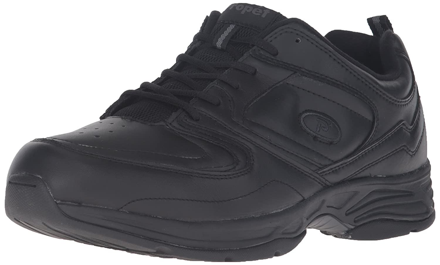 Propet Men's Warner Walking Shoe 7.5 D(M) US|Black
