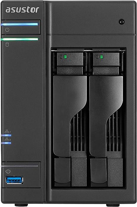Asustor AS6102T NAS Ethernet Negro Servidor de Almacenamiento - Unidad Raid (Unidad de Disco Duro, SSD, Serial ATA II, Serial ATA III, 2.5/3.5