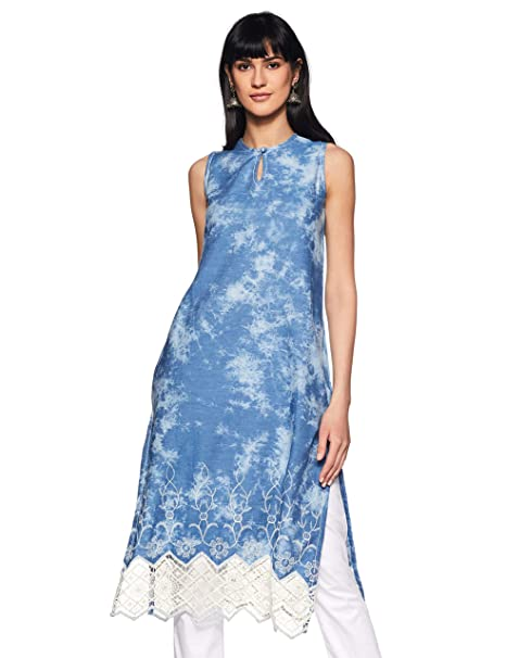 a3948679d BIBA Women s Straight Kurta  Amazon.in  Clothing   Accessories