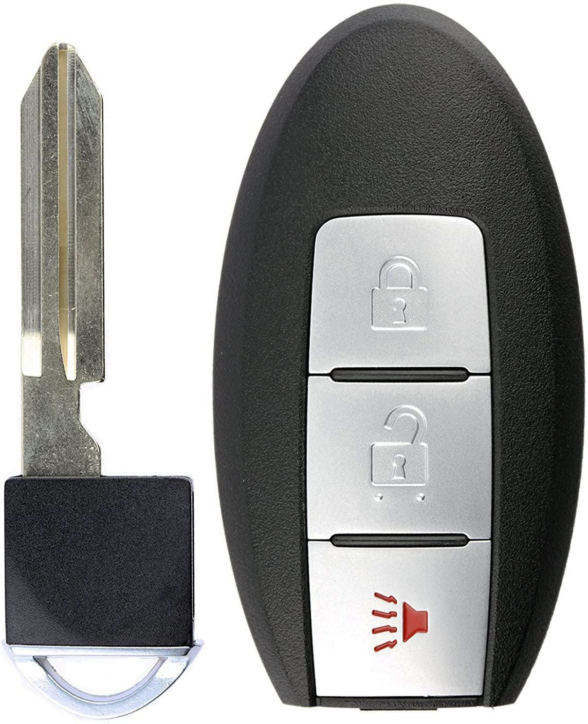 KeylessOption Keyless Entry Remote Smart Car Key Fob for Nissan Leaf Cube Juke Versa Note CWTWB1U808 Quest