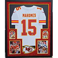 $1499 » Patrick Mahomes Kansas City Chiefs Autograph Signed White Framed Nike Licensed Limited Stitched Jersey Super Bowl Champs Edition Full…