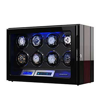 Amazon Com Watch Winder Wooden Finish With Adjustable Upgraded