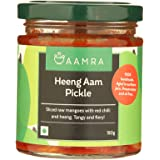 Aamra Homemade Natural Heeng Aam Pickle (Hing Mango Pickle), No Preservatives, Oil-Free- 190 Grams