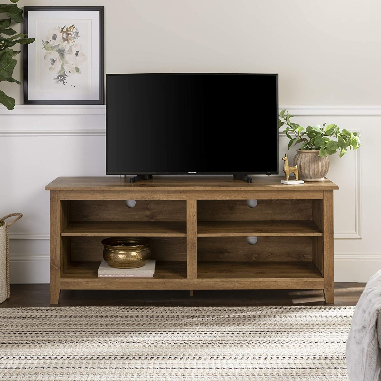 Amazon Com New 58 Inch Wide Barnwood Finish Television Stand Furniture Decor