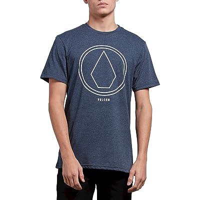 Volcom Men's Pin Line Stone Modern Fit Short Sleeve Shirt: Clothing