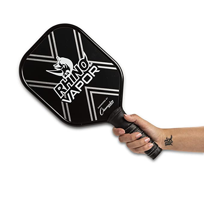 Amazon.com : Champion Sports Aluminum Pickleball Paddle Set: Rhino Vapor Pickleball Paddle - Indoor or Outdoor Pickle Ball Paddles - Blue/Black Racket ...