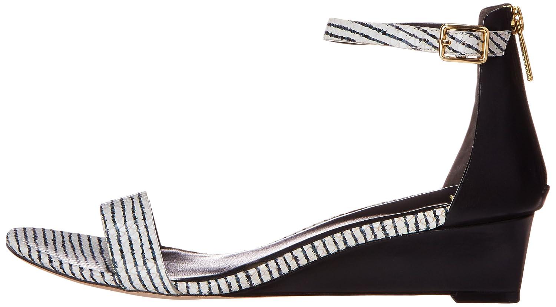 Cole Haan Women's Rossi Wedge Sandal B00OQU5E74 9.5 B(M) US|Black/Optic White Snake Print