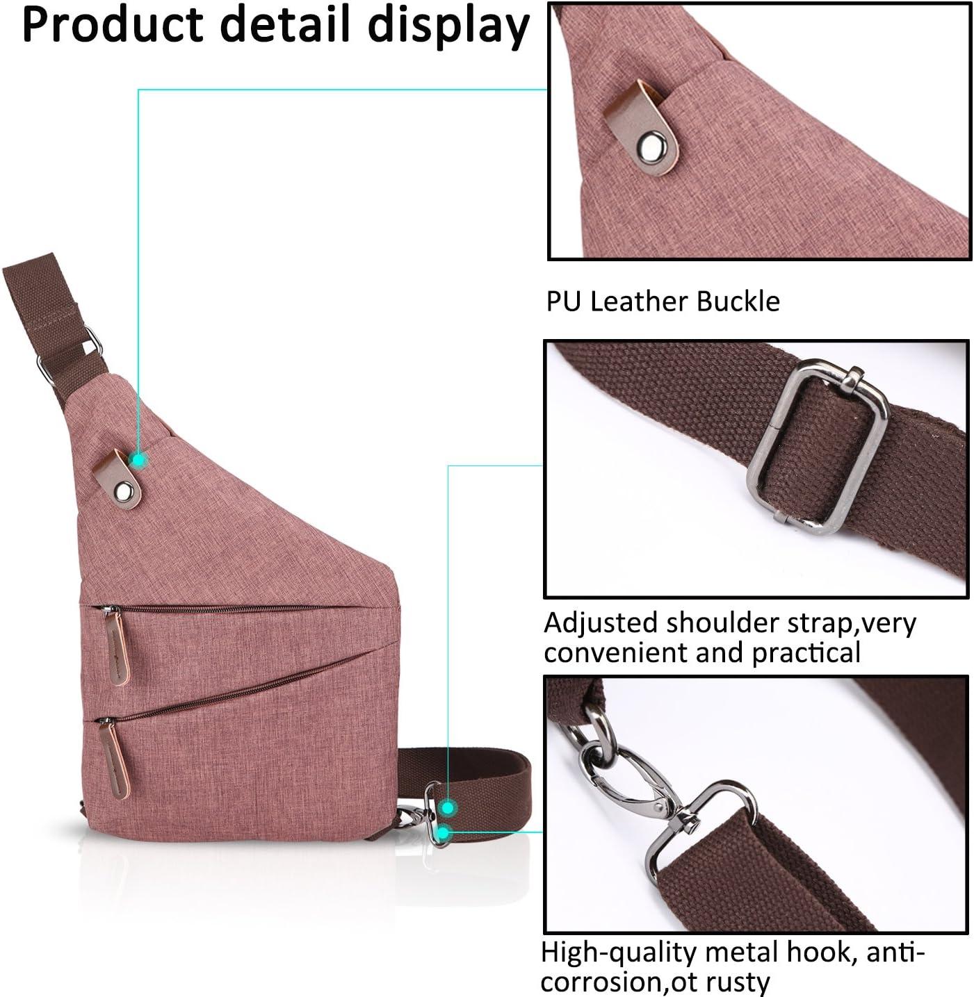 FANDARE New Sling Bag Borsa a Tracolla Studente Sport Portatile Viaggio Crossbody Bag Uomo Anti-theft Impermeabile Poliestere Blu