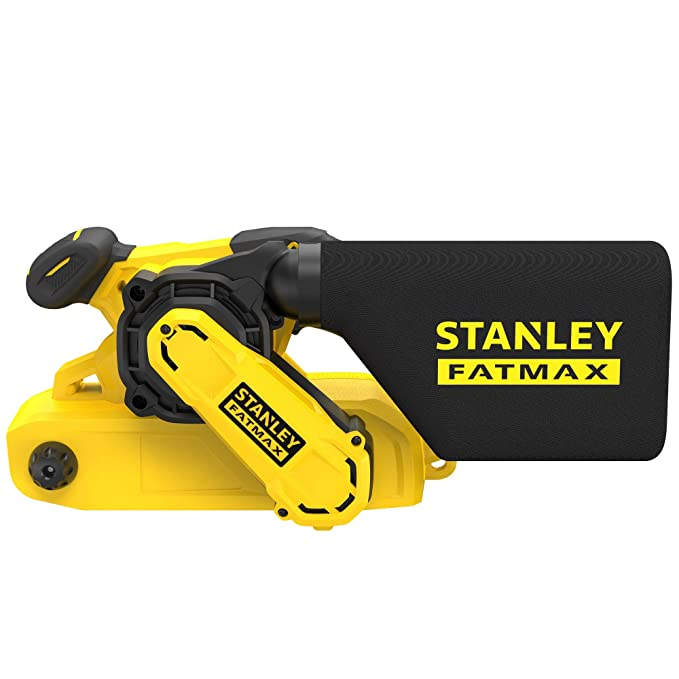Schwarz Stanley FatMax FMEW204K-QS Bandschleifmaschine 1010 W 230 V Gelb