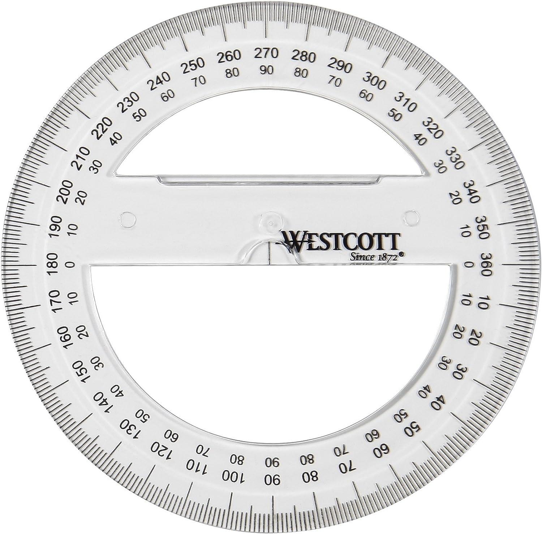Westcott E-10136 00 Goniometro plastica 15 cm circonferenza intera trasparente