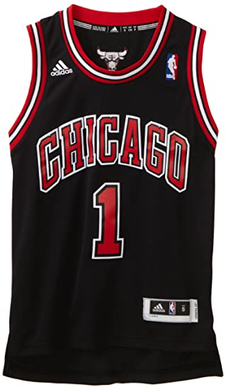 14814809 NBA Chicago Bulls Derrick Rose Swingman Alternate Youth Jersey, Black, Large