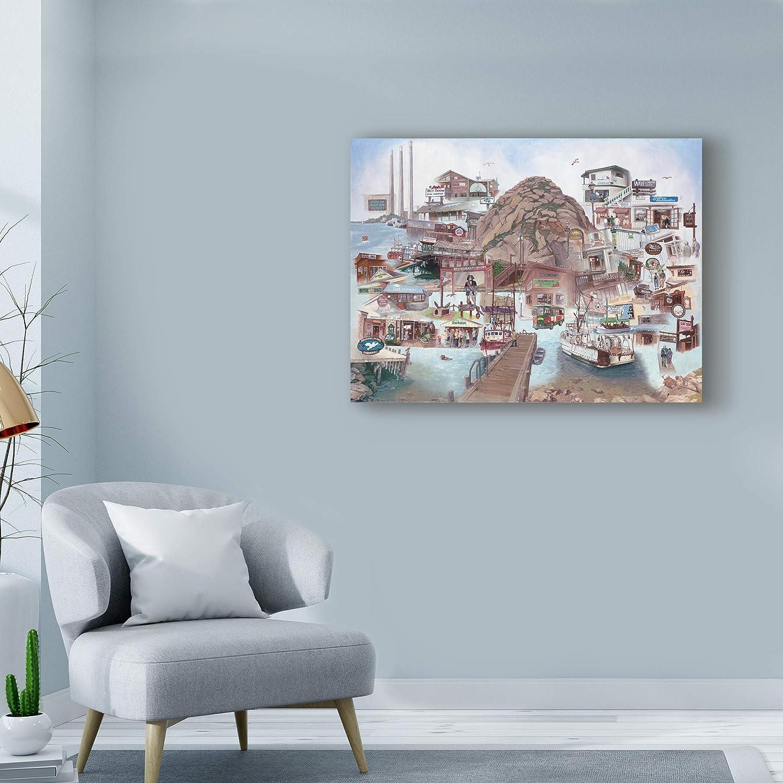 Amazon.com: Trademark Fine Art a Day at Morro Bay by Les Ray, 35x47 ...