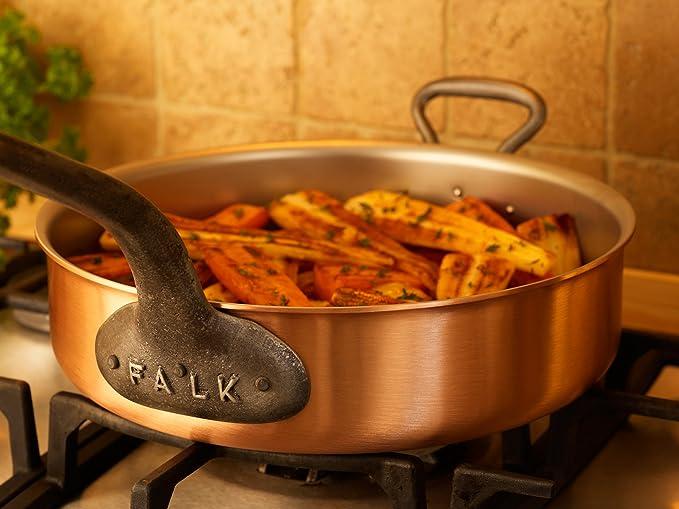 Falk Culinair - Sartén de cobre de 28 cm con asas de hierro fundido ...