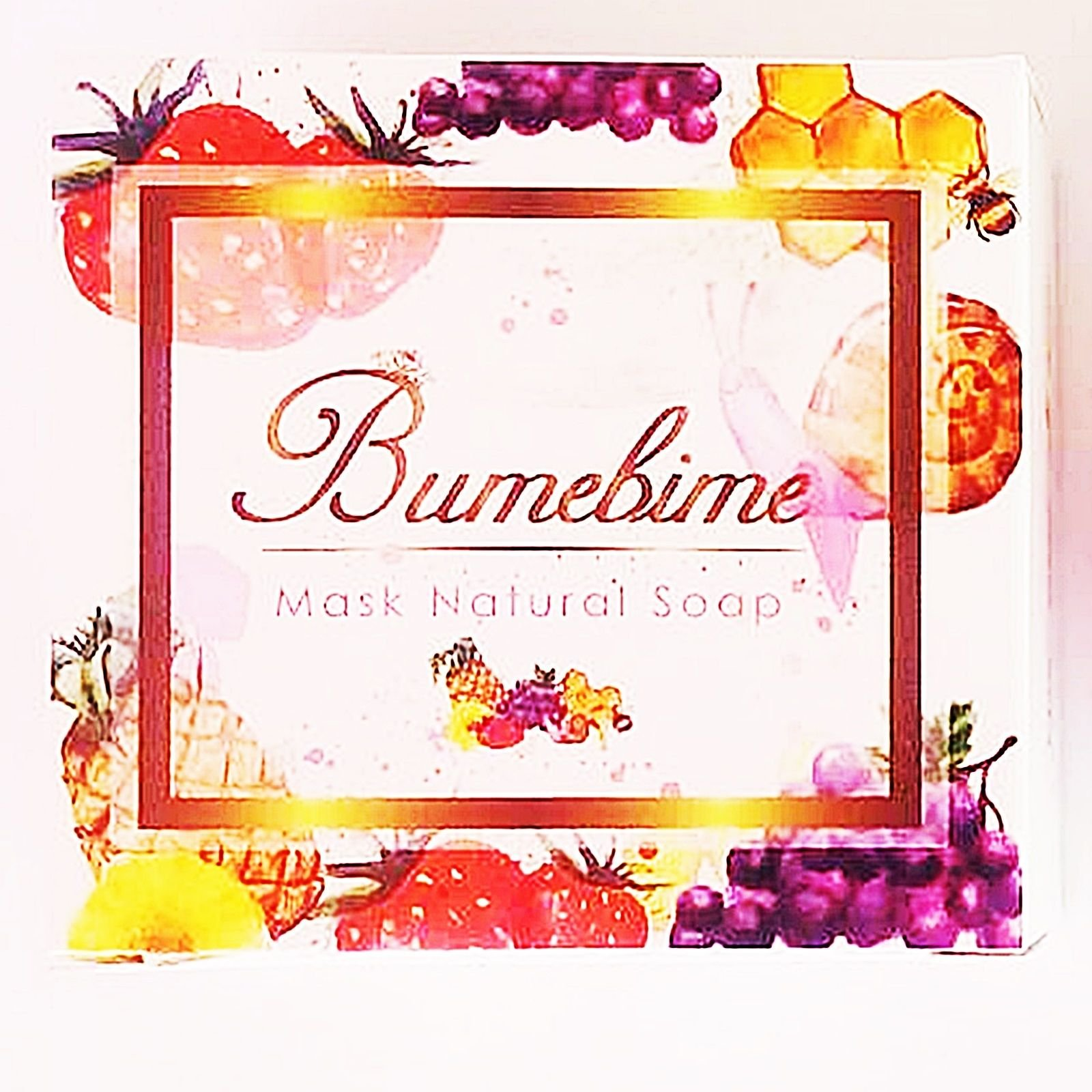 Bumebime Soap Brightening Whitening Skin Care Mask Natural Authentic with Sticker & Batch NO.