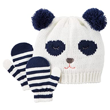 045972d4f4d Amazon.com  Carter s Baby Girls  Knit Hat   Mitten Set (0-9 Months ...