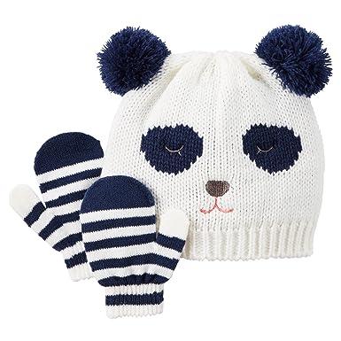 41c93d14410 Amazon.com  Carter s Baby Girls  Knit Hat   Mitten Set (0-9 Months ...