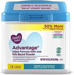 Parents Choice Advantage Powdered Formula with Iron, ...