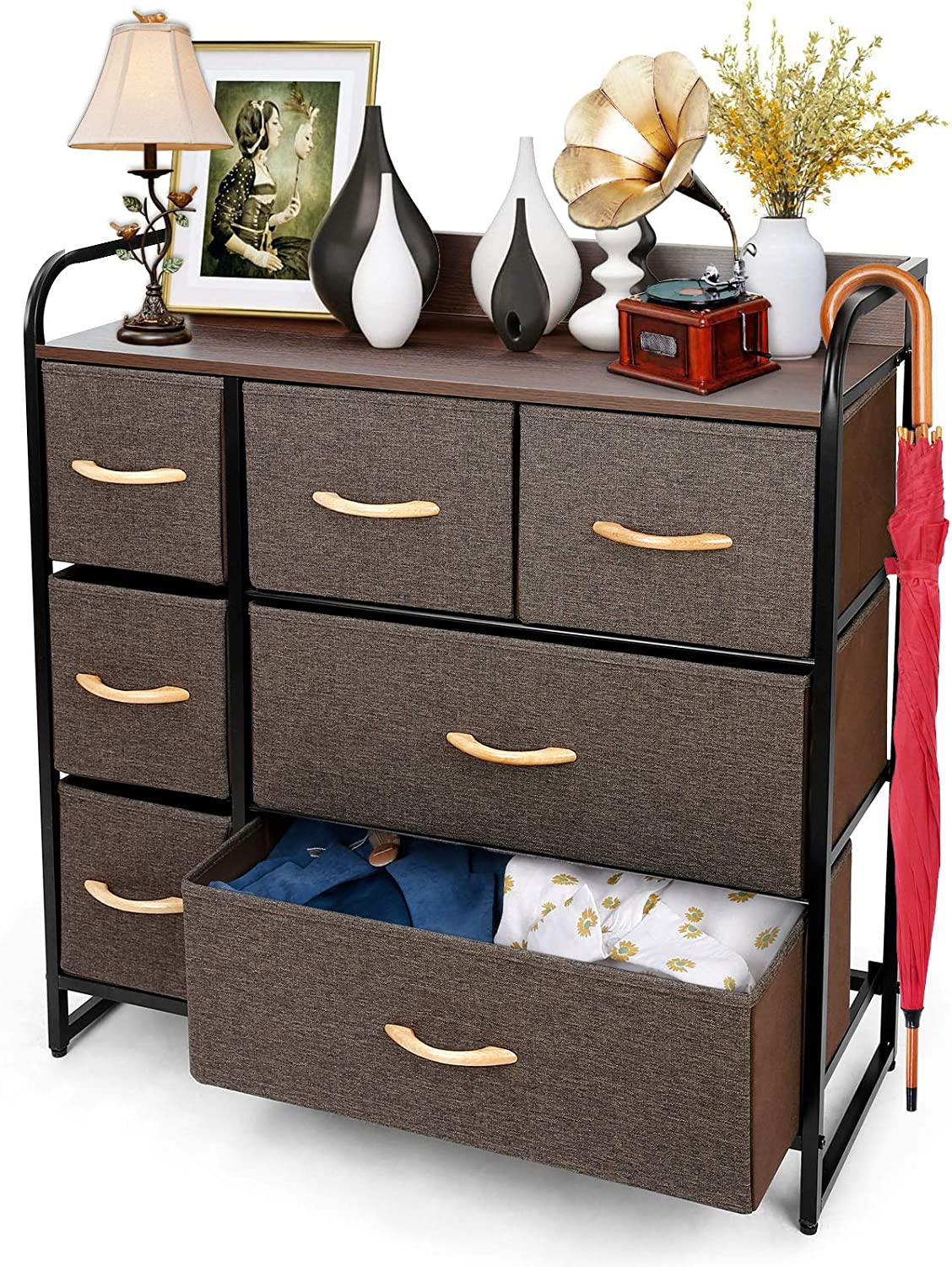 2. TUSY cheapest Gorgeous color Fabric drawer dresser.