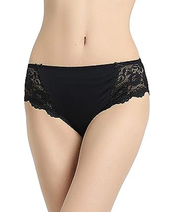 Leg Microfiber Knickers High Women Briefs Bikini Vanever Lace T7qgAg