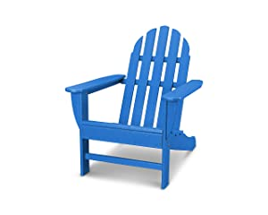 POLYWOOD AD4030PB Classic Outdoor Adirondack Chair, Pacific Blue